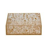 Napkin Holder Lucite Flakes- Gold