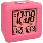 Soft Cube LCD Digital Alarm Clock- Pink