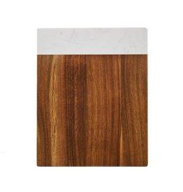 """Farberware 8x10"""" Acacia Cutting Board w Stone Accent"""