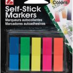 "Self Stick Markers Asst. Colors - 1 3/4"" x 1/2"""