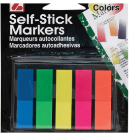 "Self Stick Markers Asst. Colors - 1 3/4"" x 1/2"""