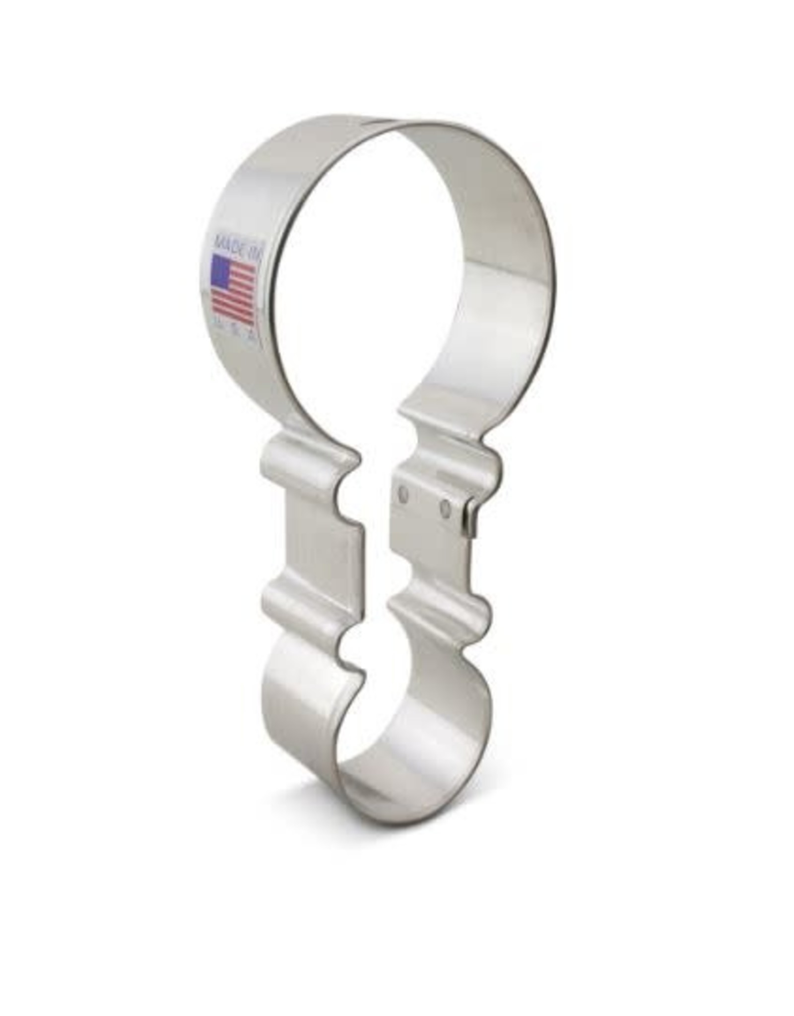 """4.5"""" Rattle Cookie Cutter"""