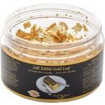24K Edible Gold Leaf Flakes Jar - 0.100g