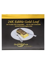 "24K Edible Gold Leaf Booklet Sheets - 3,3/8""x3,3/8"