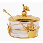 Honey Dish With Apple Shapes Gold