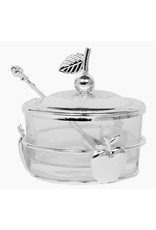 59322 Honey Dish With Apple Shapes Silver