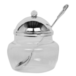 59320 Honey Dish Silver Plated With Spoon