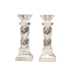 "X865 7"" Crystal Candlesticks Set of 2"