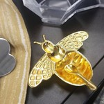 Mini Bee Honey Dish Gold With Spoon