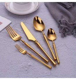 TAJ Majestic Flatware Service Gold Service For 4