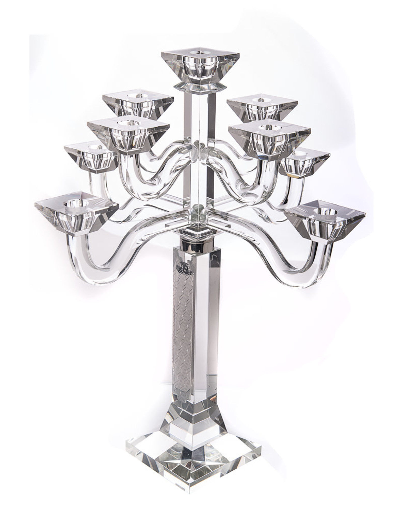 16424 9-Branch Crystal Candelabra