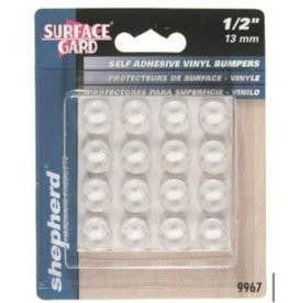 """Round Flat Adhesive 1/2"""" - Clear"""