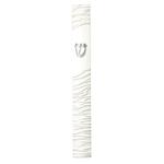 Polyresin Mezuzah 15 Cm- White Strings