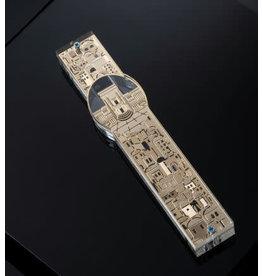 49818 Acrylic Mezuzah W Gold Jerusalem 15 cm