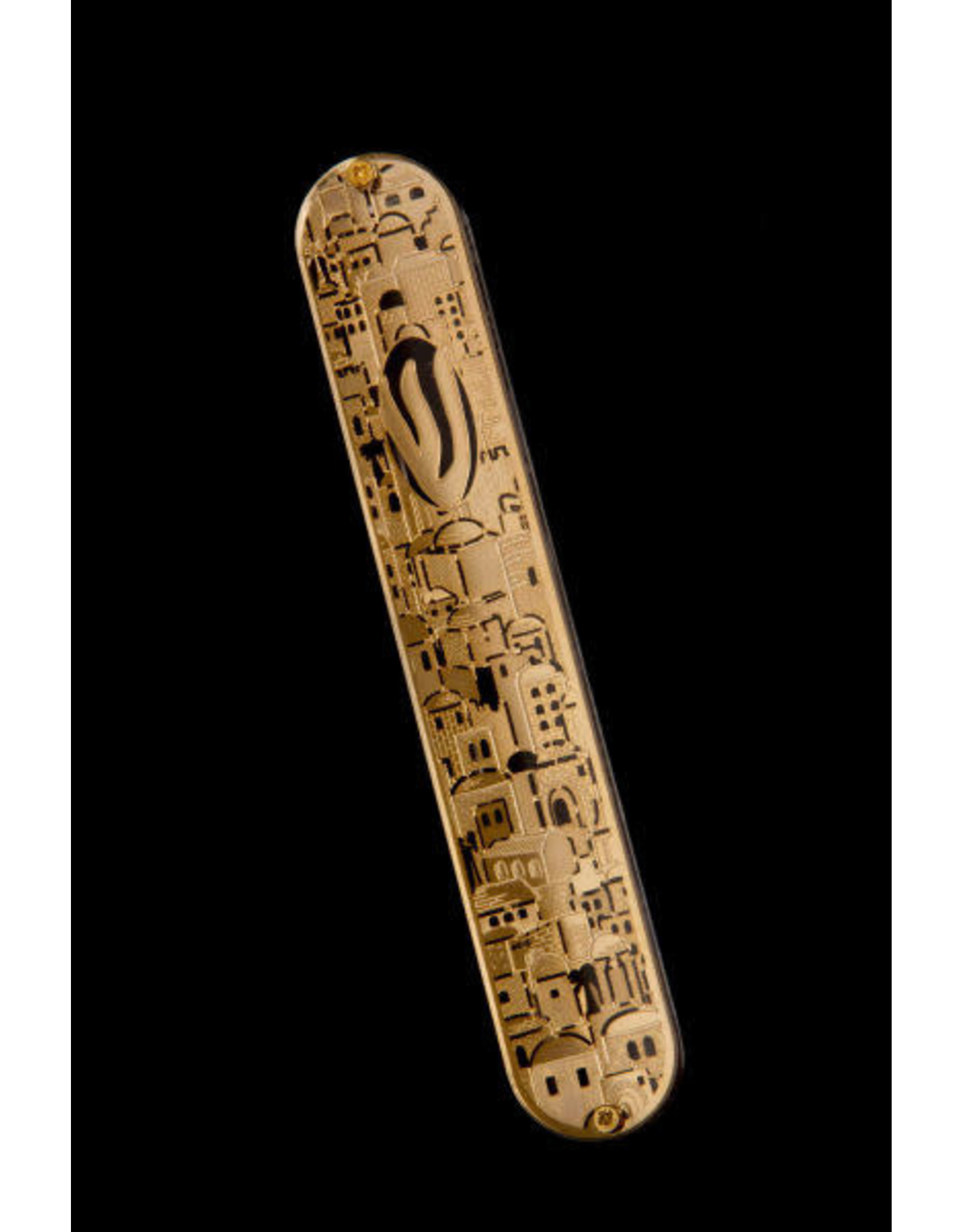 49850 Acrylic Mezuzah With Gold Jerusalem 15 cm
