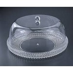 H-1115-1 12 Inch Acrylic Diamond Cut Cake Dome