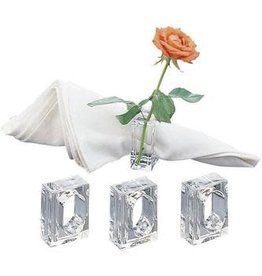 H-4416 Acrylic Bud vase Napkin Rings Set Of 4