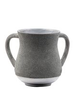 Aluminum Washing Cup 13 cm - In Silver & Gray Glitter Coating
