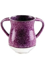 Aluminum Unbreakable Washing Cup 13.5 Cm-Marble Purple