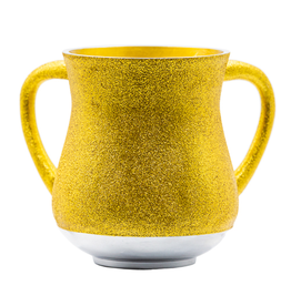 Aluminum Washing Cup 13 cm - In GOLD Glitter Coating
