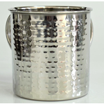 Stainless Steel Wash Cup Hammered