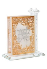 181014 Crystal Match Box Standing Combined Gold and Silver plate