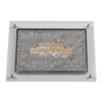 "Glass Combined Challah Board Silver Jerusalem Plate With Gold Lekavod Shabbat 15x10.5"""