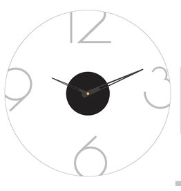Presented Touch 16 Inch Acrylic Clock Numbers Silver