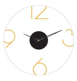 Presented Touch 16 Inch Acrylic Clock Numbers  Gold