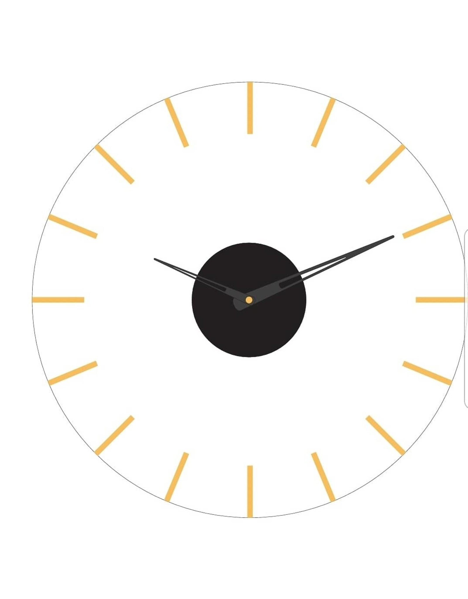 Presented Touch 12 Inch Acrylic Clock Lines Gold