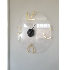 Presented Touch 12 Inch Acrylic Clock Numbers Gold