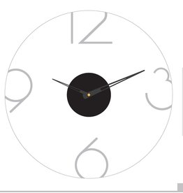 Presented Touch 12 Inch Acrylic Clock Numbers Silver