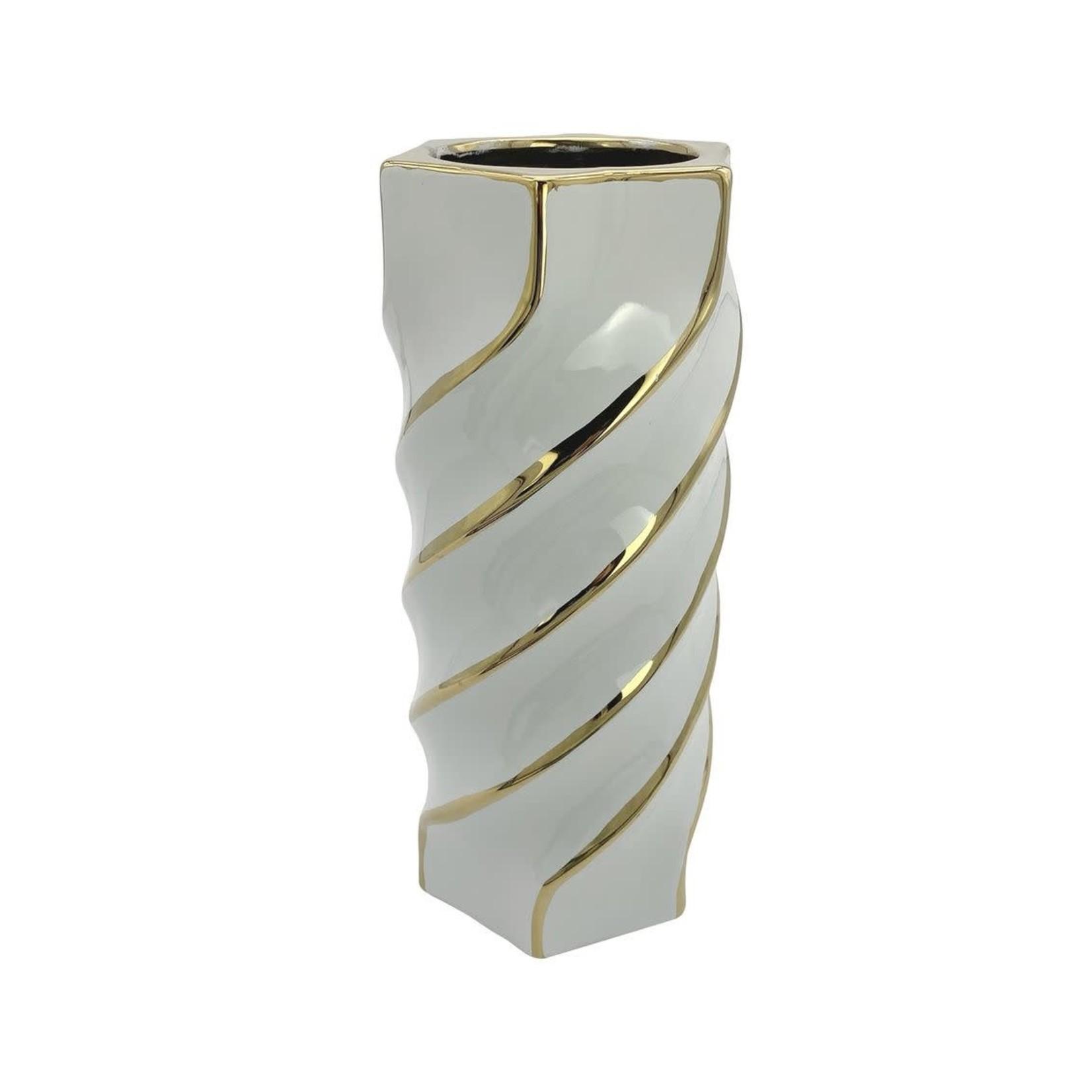 12723 Aurora Gold Swirl Vase Small