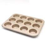 12 Cavity Large Gold Muffin Pan