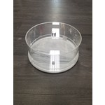 Presented Touch New Round Cake Dome 10.5 Inch-White Marble