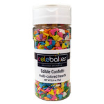 Celebakes Muli-Color Hearts Edible Confetti, 2.6 oz.