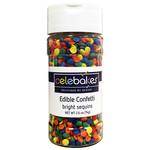 Celebakes Bright Sequins Edible Confetti, 2.6 oz.