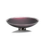IN-6355 Emilie Wide Glass Bowl on Metal Base-Sangria,