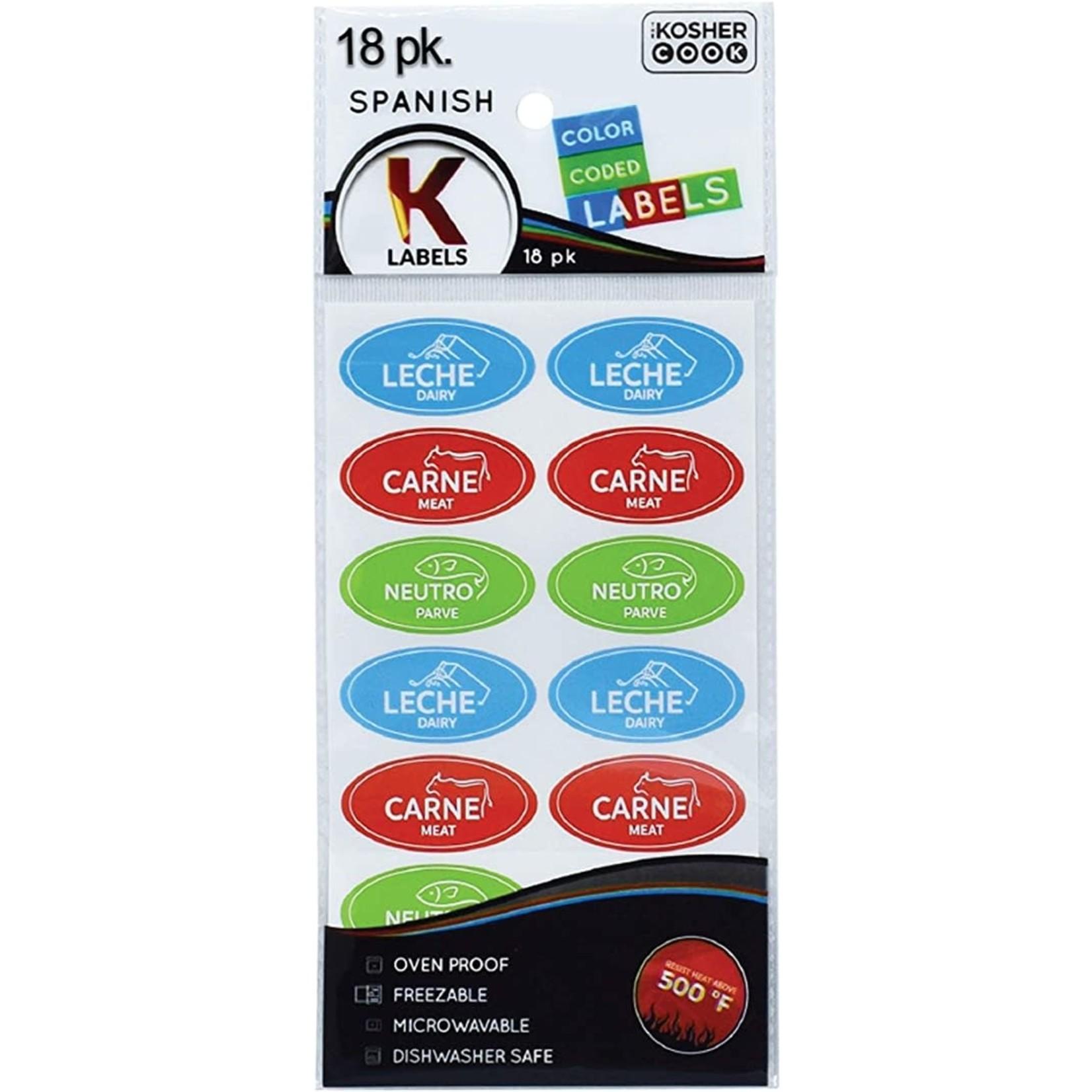 05409 Kosher Labels18pk. Spanish - Assorted
