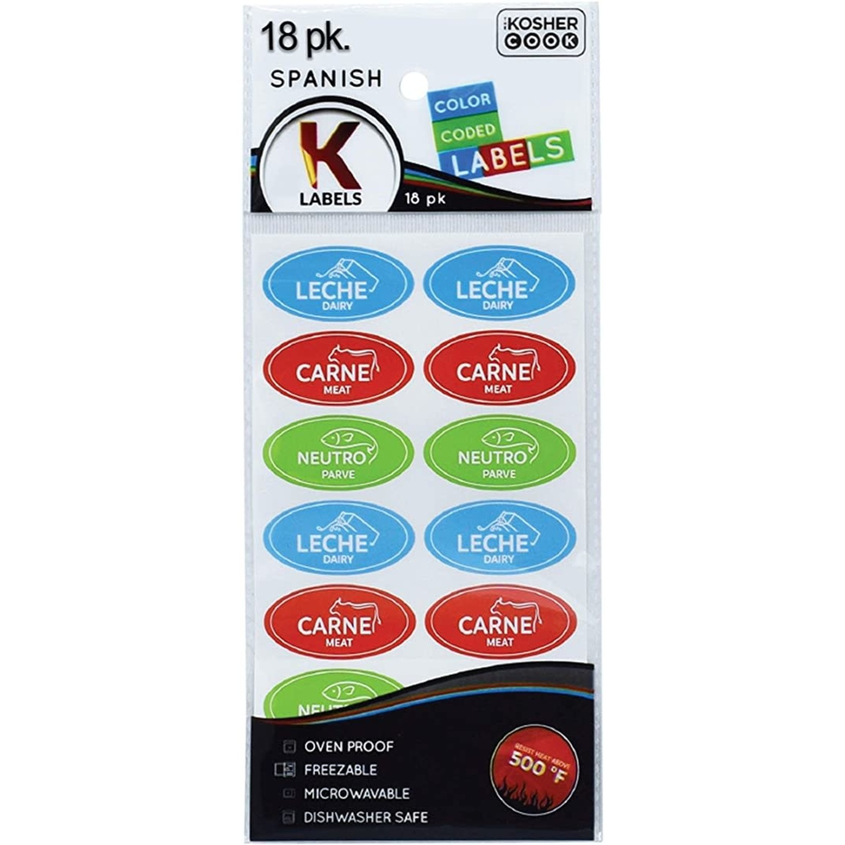 Kosher Labels18pk. Spanish - Assorted