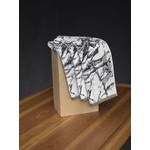 "Granite 19x30"" Matellic White/Grey/Gold"