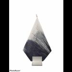 Diamond Black White Havdalah Candle