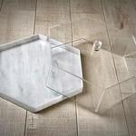 White Marble Hexagon Cake Dome