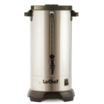 LeChef Hot Water Urn S/S 60 CUP, 12L W/ SHABBOS SWITCH