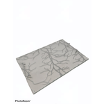 Challah Board With Silver Handles clear