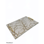 Challah Board With Gold Handles clear