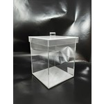 Square Acrylic Cookie Jar Small Marble