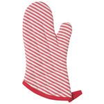 Now Designs Mitt Super Narrow Stripe Red