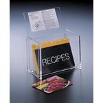 H-4410-64 6 x 4 LID-DISPLAY RECIPE BOX (W/CARDS)