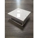 Presented Touch 8 Inch Square Covered Tray With White Cover